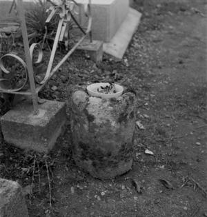 Bénitier en granit, collectage de la mission Basse-Bretagne de 1939 |