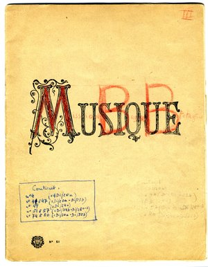Transcriptions musicales des chants, cahier n°3, collectage de la mission Basse-Bretagne de 1939 |