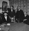 de gauche à droite : Forion Pavec, Charles Daniel, MItton et François Le Brun ; 24 juillet à 9h ; Surzur ; salle de Mme Le Gall ; [photo originale 18]