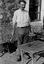 Louis Renaud dit Laridou chantant la 'chanson du café' ; 20 juillet à 18h ; Sarzeau ; Kerdré ; [photo originale 92]