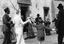 noce de Thérèse Jégo ; la ridée devant un débit ; 25 juillet à 12h ; Surzur ; devant la chapelle de la Vierge ; [photo originale 47]