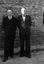 les Louis (à g.) et Jacques-Marie frères Congratel, 3e et 4e prix de chanson bretonne au concours du 30 juillet ; 30 juillet à 19h15 ; Brandérion ; [photo originale 148]